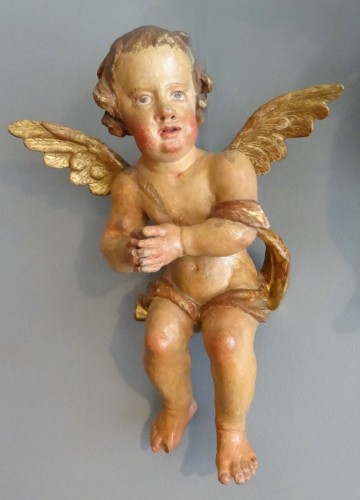 Cherubs carved 17th Century - Sculpture Style Louis XIV