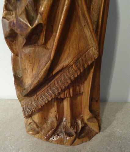16th century - Saint Eloi bishop carved wood circa 1520-1530
