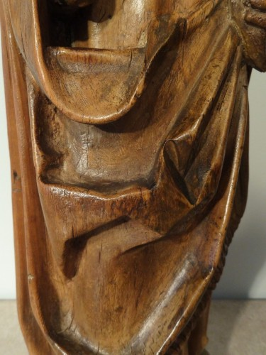 Renaissance - Saint Eloi bishop carved wood circa 1520-1530