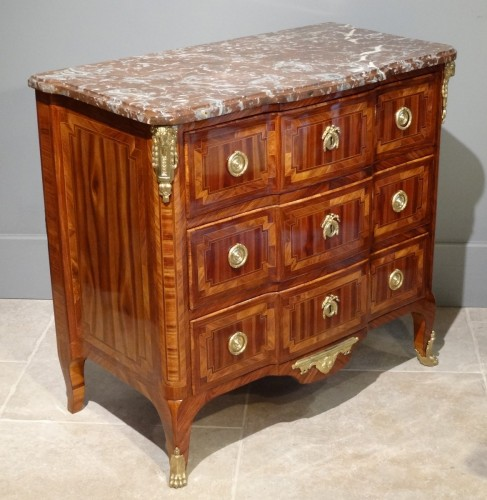 Transition commode stamped B. DURAND 18th century - Furniture Style Transition