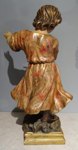 18th century - Child carved and polychrome 18th century