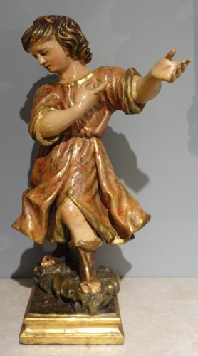 Child carved and polychrome 18th century - Louis XV