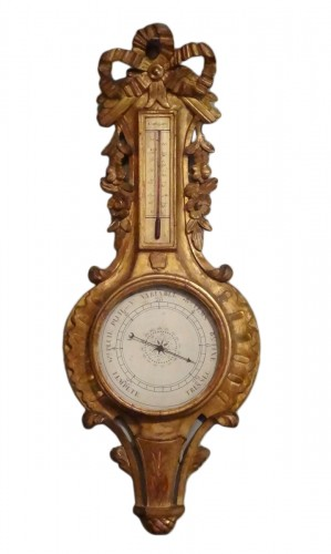 Louis XV filtwood Barometer Thermometer
