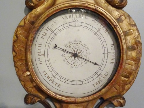 Louis XV filtwood Barometer Thermometer -