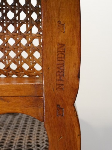 """Louis XV """"chaise Percée"""" Stamped N.baudin - Seating Style Louis XV"""