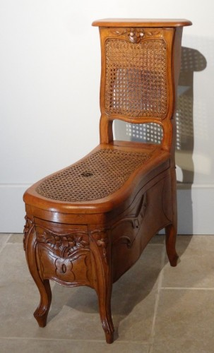 """Seating  - Louis XV """"chaise Percée"""" Stamped N.baudin"""