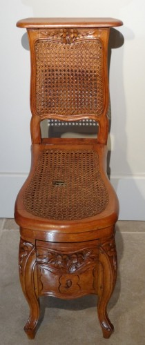 """Louis XV """"chaise Percée"""" Stamped N.baudin -"""