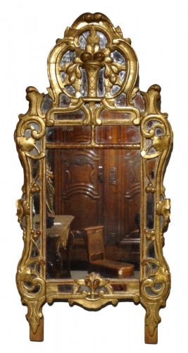 "Provencal mirror said ""Beaucaire"" gilded wood 18th century"