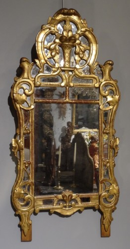 "Provencal mirror said ""Beaucaire"" gilded wood 18th century -"