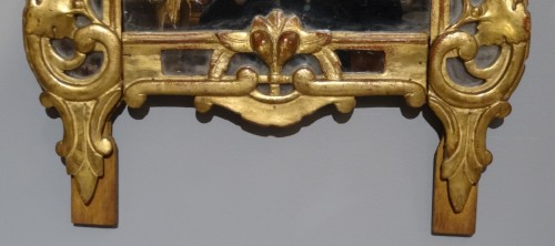 "18th century - Provencal mirror said ""Beaucaire"" gilded wood 18th century"