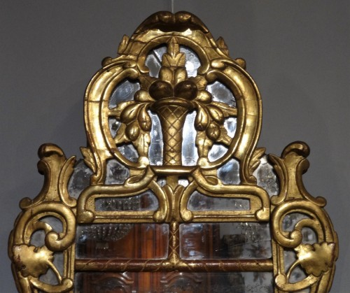 "Provencal mirror said ""Beaucaire"" gilded wood 18th century - Louis XV"