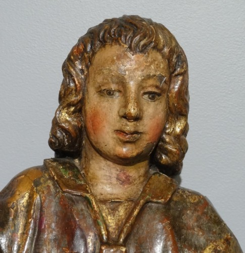 """Statuary group """"Tobie and the angel Raphael"""" 17th century - Sculpture Style Louis XIV"""