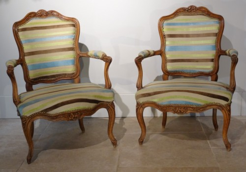 Seating  - Four Louis XV Armchairs 18th Century
