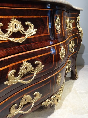 "Louis XV - Louis XV Chest Of Drawers stamped ""LARDIN"""