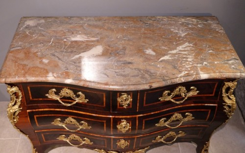 "Antiquités - Louis XV Chest Of Drawers stamped ""LARDIN"""