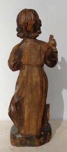 17th century - A 17th Century Carved And Polychrome Christ Child