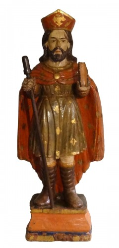 Saint Jacques Carved And Polychrome Wood 18th Century