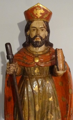 Saint Jacques Carved And Polychrome Wood 18th Century -