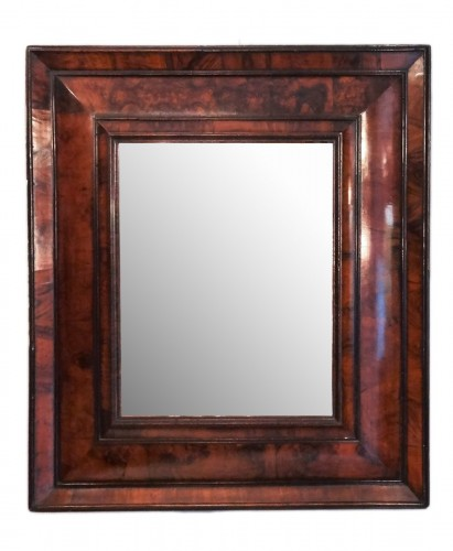 French Louis XIII mirror in olive wood 17th century