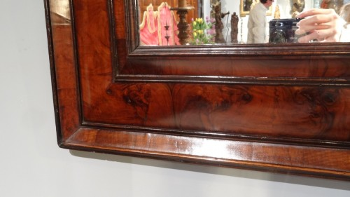 French Louis XIII mirror in olive wood 17th century - Mirrors, Trumeau Style Louis XIII