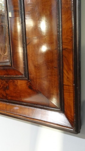 French Louis XIII mirror in olive wood 17th century -