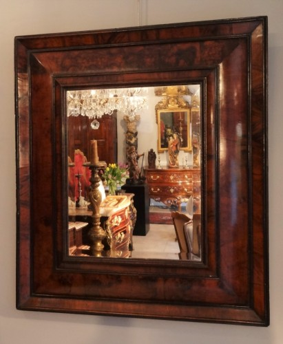 17th century - French Louis XIII mirror in olive wood 17th century
