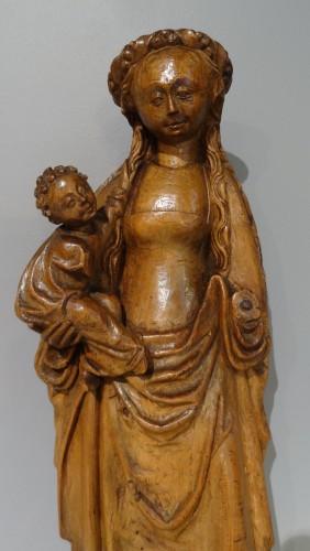 """Virgin and child called """"Mechelen doll"""" around 1530-1550 -"""