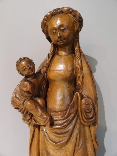 """Renaissance - Virgin and child called """"Mechelen doll"""" around 1530-1550"""