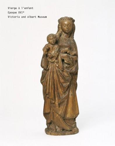 "Antiquités - Virgin and child called ""Mechelen doll"" around 1530-1550"