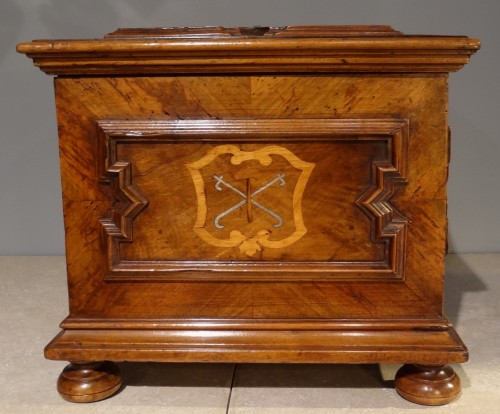 """Furniture  - French Box """"compagnonnage"""" Dated 1739"""