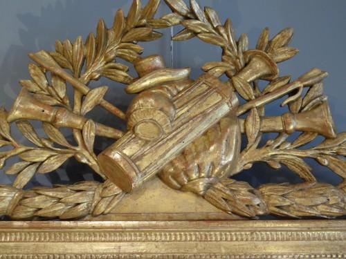 French Louis XVI  giltwood Mirror -