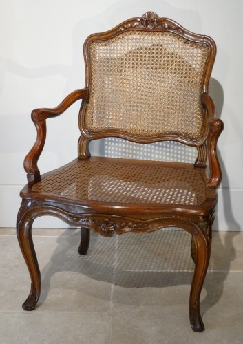"French Louis XV ""cane"" Armchair 18th century"