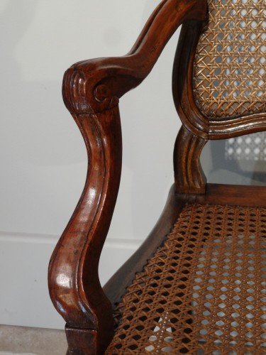 """18th century - French Louis XV """"cane"""" Armchair 18th century"""