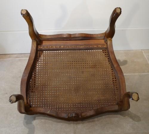 "Antiquités - French Louis XV ""cane"" Armchair 18th century"