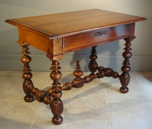 French Louis XIII Table Walnut
