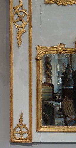 Louis XV painted wood Trumeau - Mirrors, Trumeau Style Louis XV