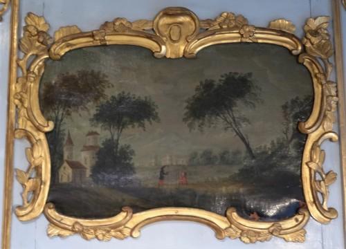 Mirrors, Trumeau  - Louis XV painted wood Trumeau