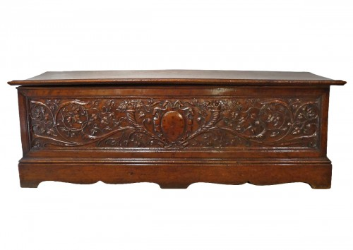 16th Century Italian Renaissance Walnut Chest Late