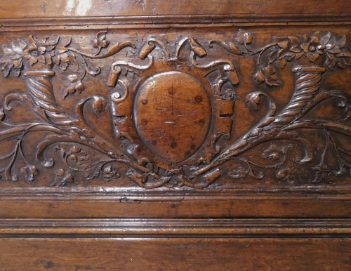 16th Century Italian Renaissance Walnut Chest Late - Renaissance