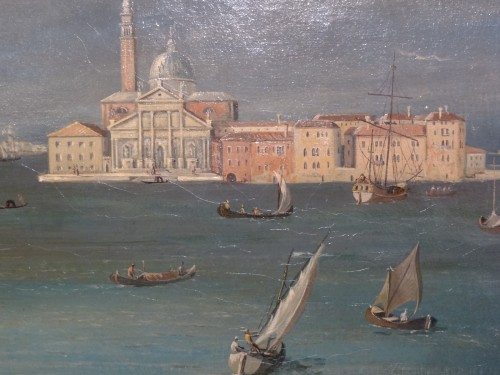 """Pair of large paintings """"View of Venice"""" late 19th century - Napoléon III"""