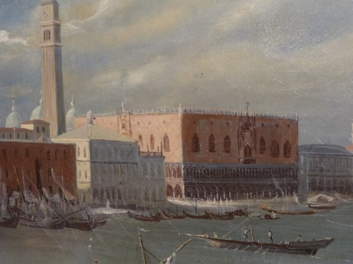"""Napoléon III - Pair of large paintings """"View of Venice"""" late 19th century"""