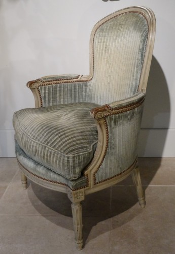 "Seating  - Pair of ""cabriolet"" wing chairs Louis XVI"