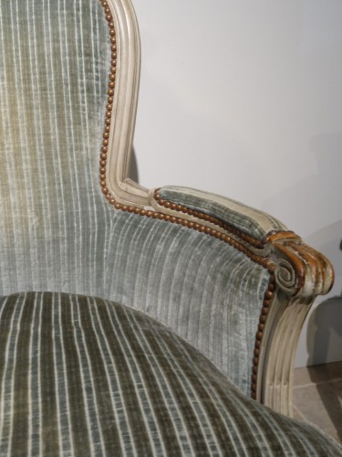 "Pair of ""cabriolet"" wing chairs Louis XVI -"