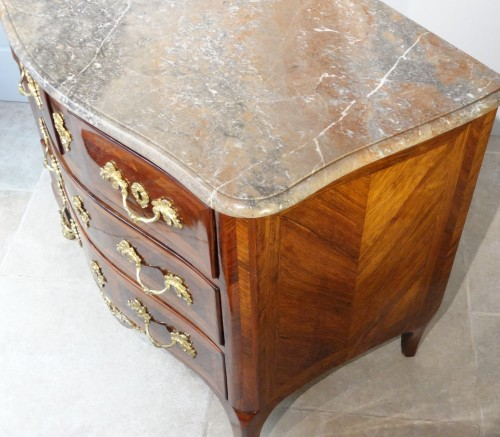 Louis XV - Small Louis XV Commode Stamped