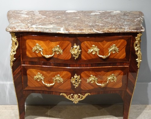 Small French Louis XV commode stamped BOUDIN -