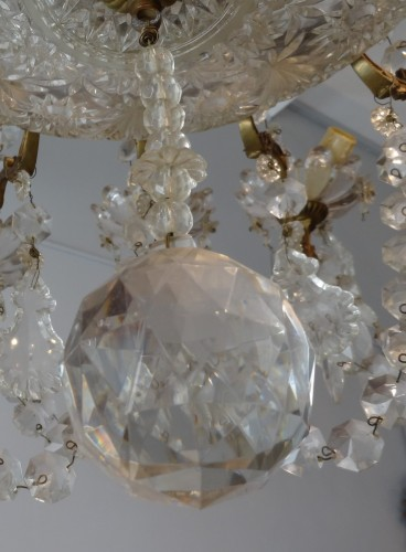 French chandelier crystal and bronze 19th Century - Lighting Style Napoléon III