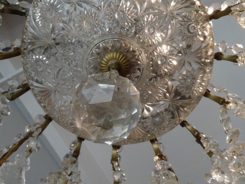 Napoléon III - French chandelier crystal and bronze 19th Century