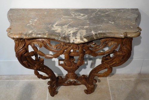 French Louis XV console -