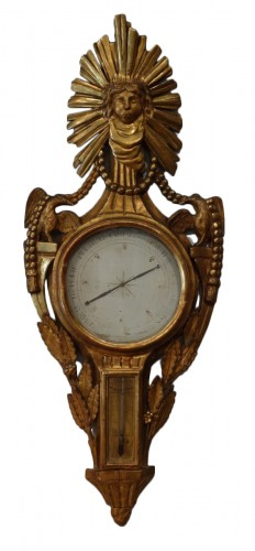 French Louis XVI Thermometer barometer