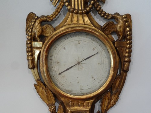 French Louis XVI Thermometer barometer - Missing the mechanism on the back -